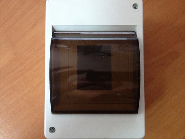 Корпус пластиковий зовнішній 4 модуля з кришкою IP 20