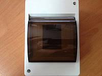 Корпус пластиковый наружный 4 модуля с крышкой IP 20