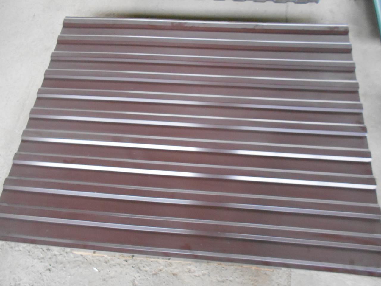 Профнастил коричневый RAL-8017 0.95/1200мм