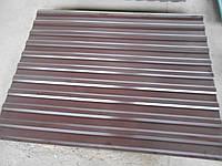 Профнастил коричневый металлопрофиль RAL 8017 950/2000мм