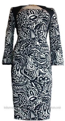 Платье женское  батал в 3 цветах