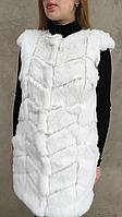 Жилет из меха кролика белый, фото 1