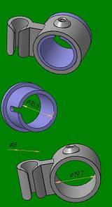держатель для 3-й трубы