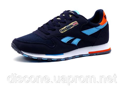 Кроссовки унисекс Reebok Classic Jogger, синие, бело-голубые элементы