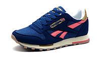 Кроссовки женские Reebok Classic Jogger, синие, розово-бежевые элементы, фото 1