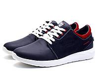 Туфли спортивные H.Denim, кожаные, мужские, темно-синие , фото 1