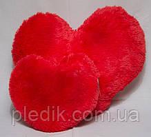 Сердце меховое красное