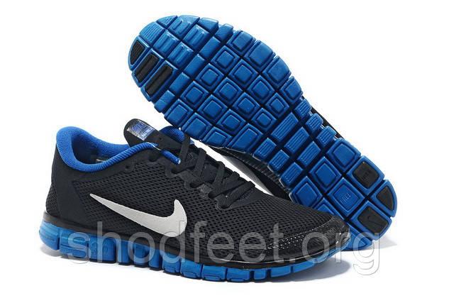 Мужские кроссовки Nike Free 3.0 v2 Black/Blue