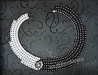 Колье черно белое, фото 1