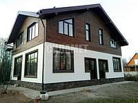 Комбинированный дом из газобетона и дерева под ключ