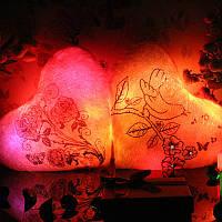 Светящаяся Подушка – Сердце «Весна» (Птички)