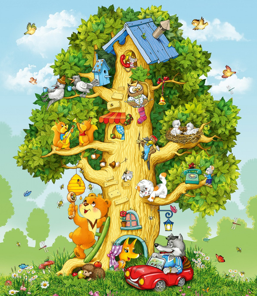 Фотообои, Лесной дом Люкс, 20 листов, размер 276х240см