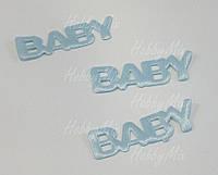 """Аппликация слово """"BABY""""_blue 5 шт., фото 1"""