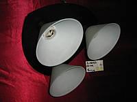 Люстра на 3 лампочки для низких потолков BK (темный)  P3-11605/3/BK+MK (4шт. - ящ.)