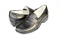 Женские туфли mida 21156ч черные   весенние , фото 1
