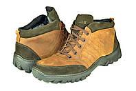 Мужские ботинки makas 4321нуб.кор коричневые   зимние