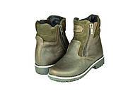 Мужские ботинки makas 1418кор коричневые   зимние