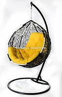 Качели из ротанга «Gardi», черно-белые, фото 1