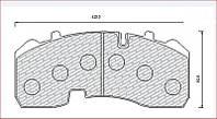 Дисковые тормозные колодки MAN комплект MEGA 129165M
