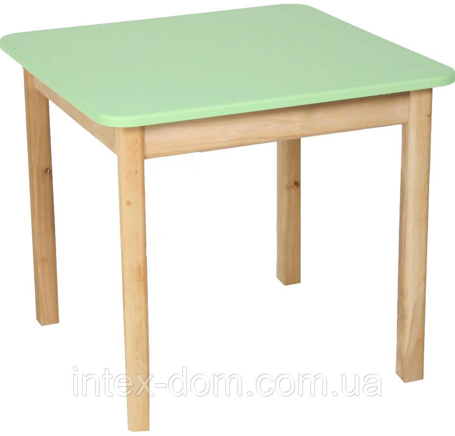 Деревянный (салатовый) столик Финекс Плюс