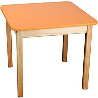 Деревянный (оранжевый) столик Финекс Плюс