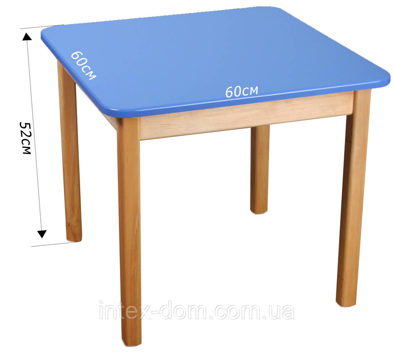 Деревянный (синий) столик Финекс Плюс