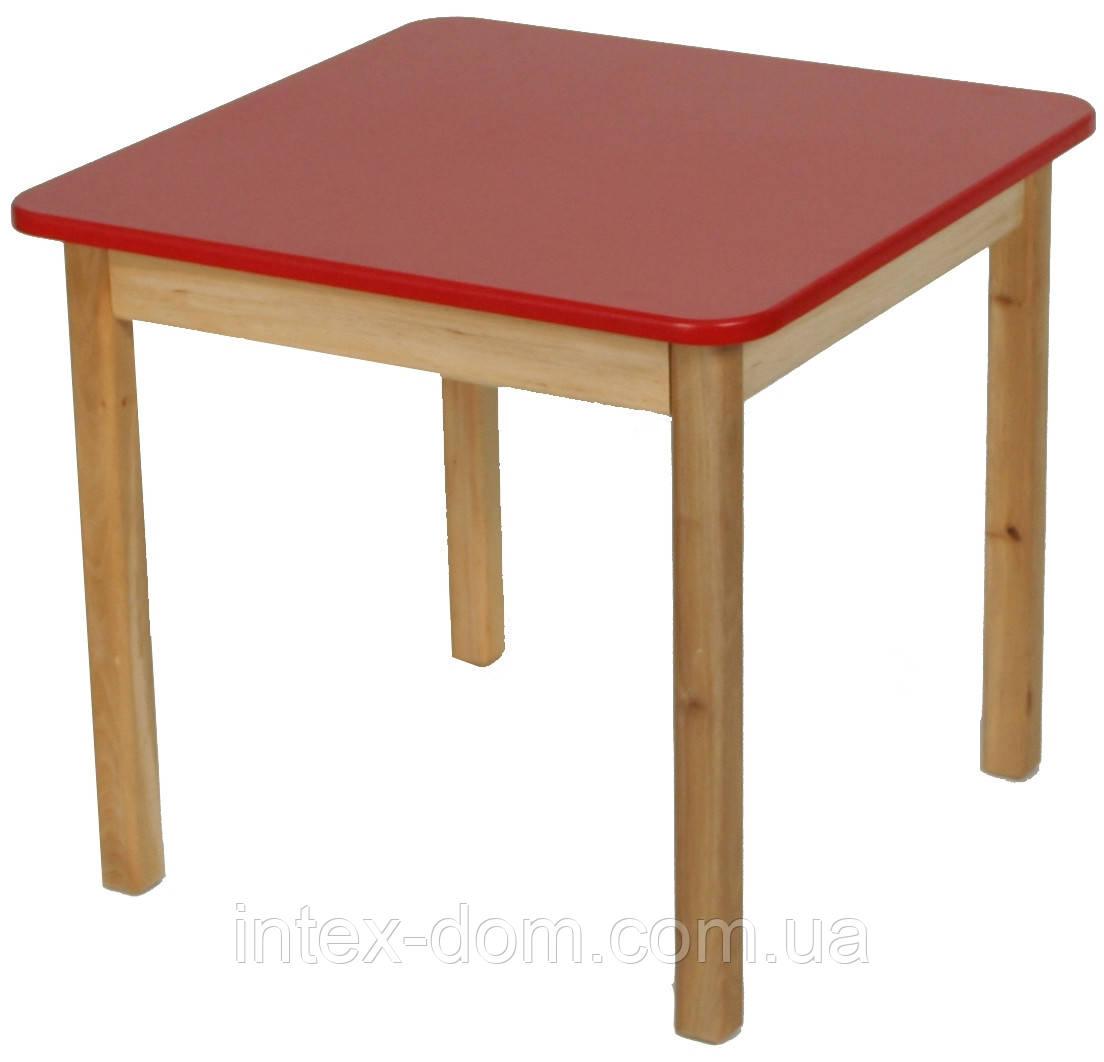 Деревянный (красный) столик Финекс Плюс