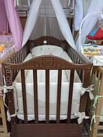 Дитяче ліжечко ЛД-6 горіх.