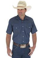Тениска Wrangler MS3127B Cowboy Cut® Firm Finish Denim Short Sleeve Work Western Shirt