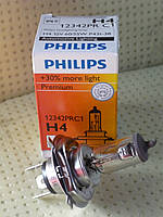 "Лампа H4 12 V 60/55 W+30% основного света фар +30% "" Филипс """