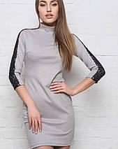 Женское платье с гипюром на рукавах (2154 sk), фото 3