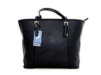 Удобная вместительна женская сумка Эко-кожа. Черная, фото 1
