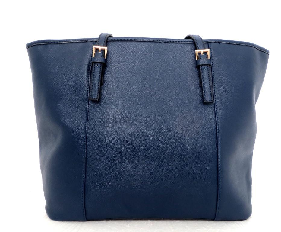 Удобная вместительна женская сумка Эко-кожа. Синяя