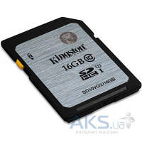 Карта памяти Kingston 16GB SDHC UHS-I Class10 (SD10VG2/16GB)