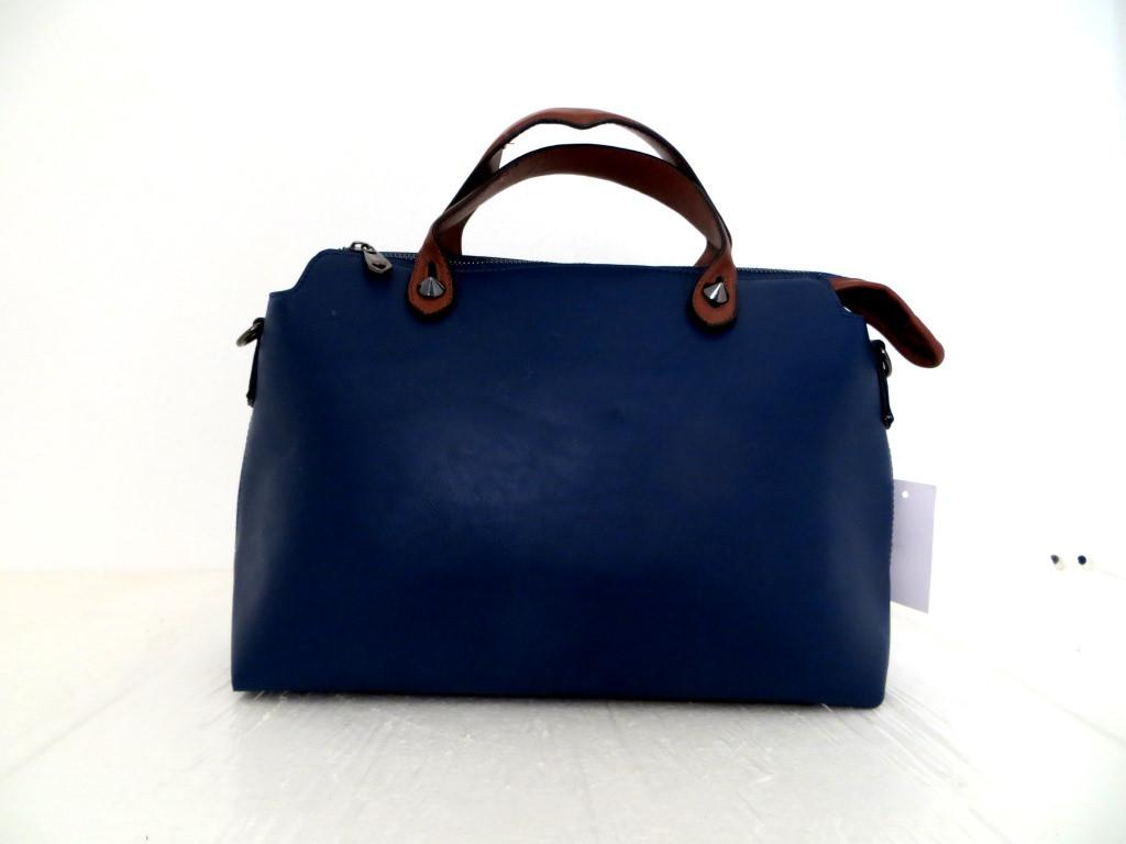 Удобная женская сумка. Эко-кожа. Синяя