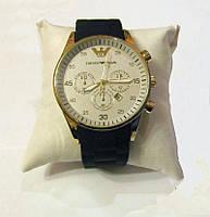 Кварцевые часы мужские с силиконовым ремешком