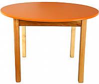 Деревянный (оранжевый) столик с круглой столешницей Финекс Плюс