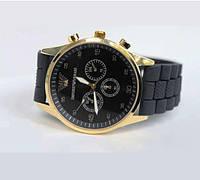 Кварцевые мужские часы Armani с силиконовым ремешком