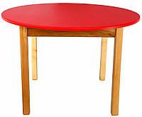 Деревянный (красный) столик с круглой столешницей Финекс Плюс, фото 1