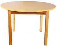 Деревянный (ваниль) столик с круглой столешницей Финекс Плюс