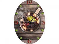 Часы настен.серия Кухня Чашка чая стекло/овал 25х35 см