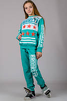 Детский спортивный костюм для девочки BROOKLYN (бирюза)