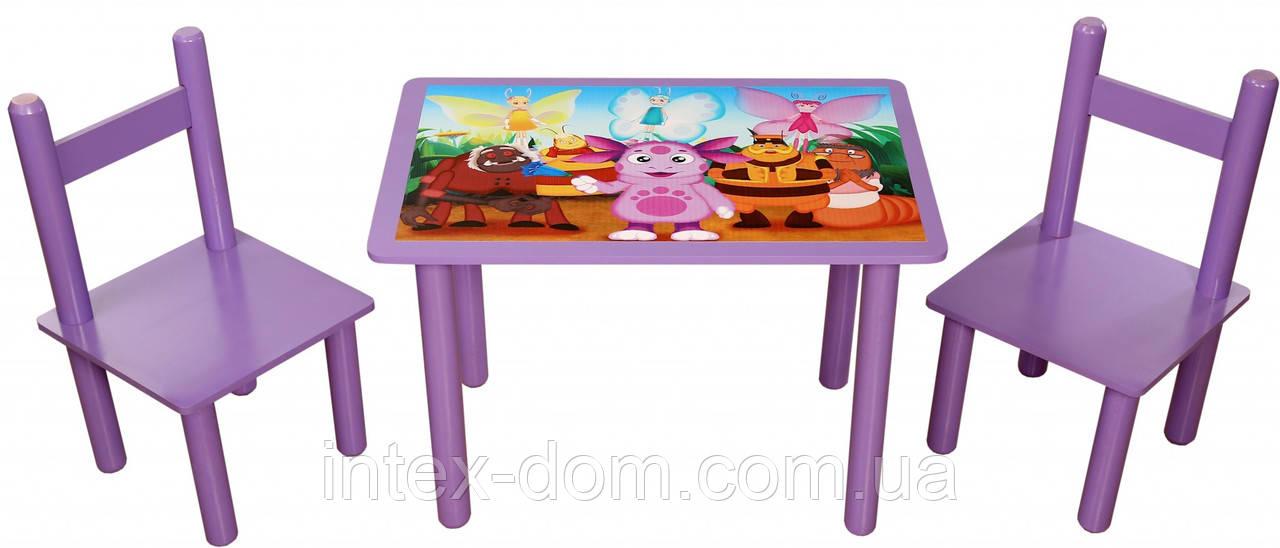 Набор Стол и 2 стульчика Bambi 1432( Плюс Лунтик)