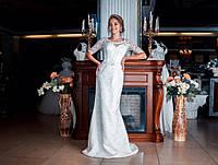 Свадебное платье рыбка Доминик с рукавом