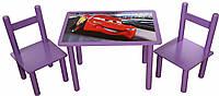 Набор Стол и 2 стульчика Bambi 0292 ( Финекс Плюс Тачки)