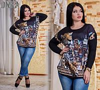 Женская батальная туникаДГат3176