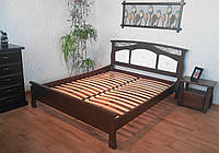 """Кровать с мягким изголовьем """"де Ла Фер"""". Массив - сосна, ольха, дуб."""