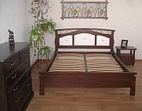 """Спальня """"де Ла Фер"""" (кровать, тумбочки, комод). Массив - сосна, ольха, дуб."""