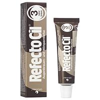 Фарба RefectoCil для брів і вій №3 - Натуральний коричневий
