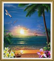 Фотообои, Морской закат, 15 листов, размер 242х201см